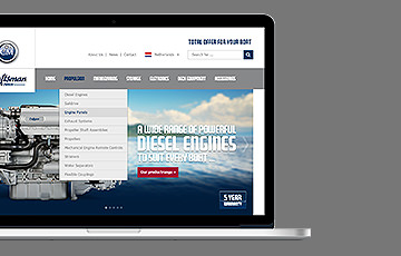 Craftsman Marine webdesign thumb