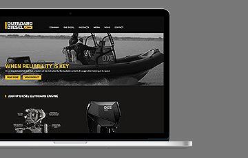 Outboard Diesel webdesign