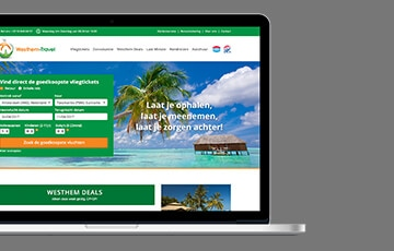 Westhem Travel webdesign thumb