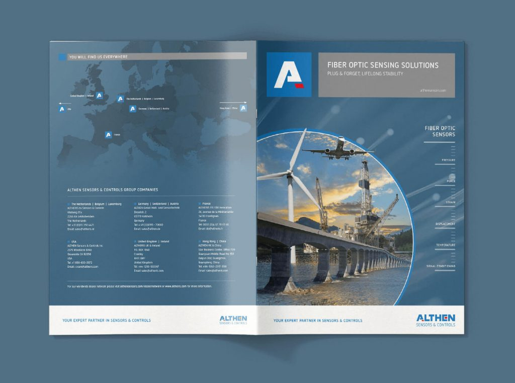 Althen Fiber Optic brochure topview front