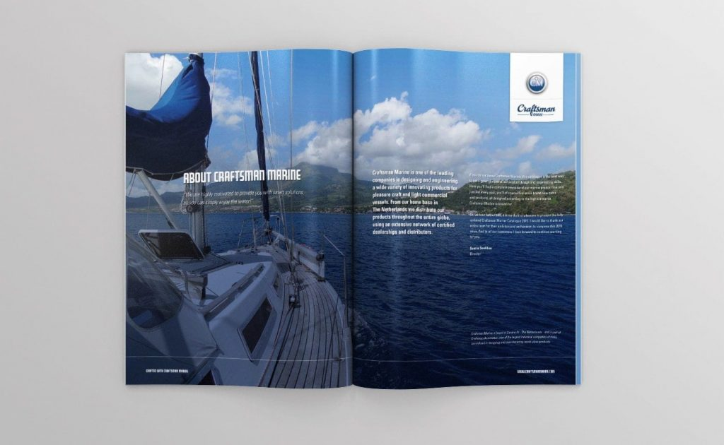 Craftsman Marine catalogus topview open 01