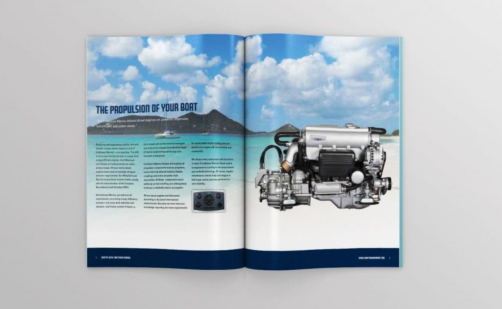 Craftsman Marine catalogus topview open 03