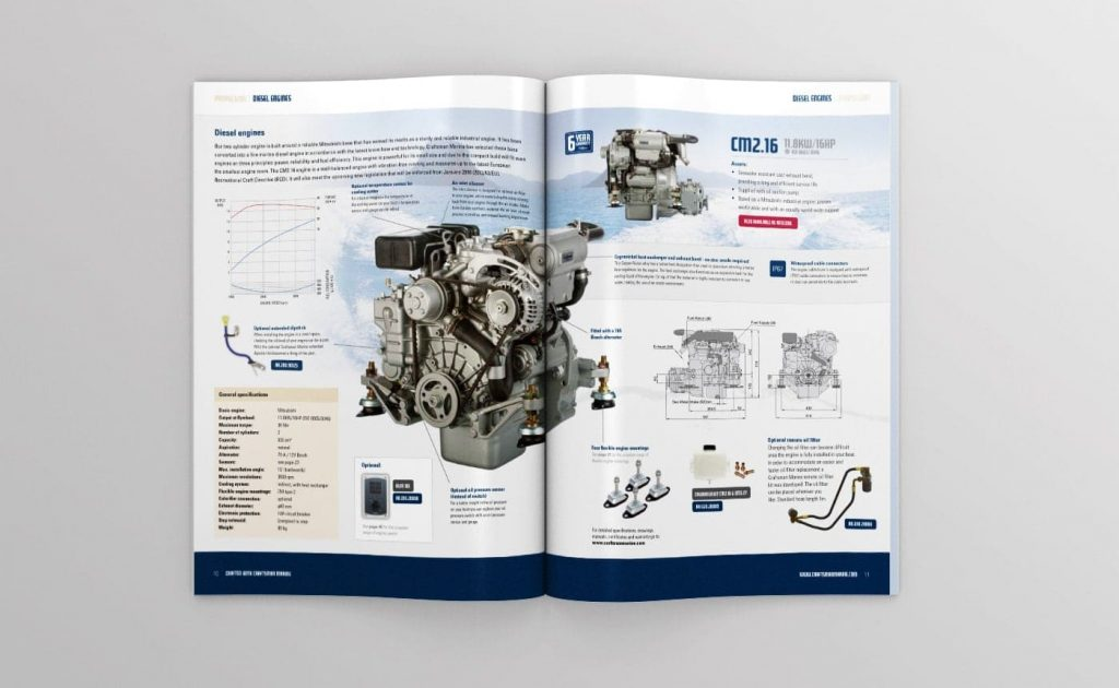 Craftsman Marine catalogus topview open 04