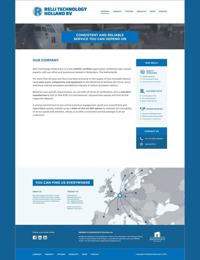 Relli Technology webdesign company page