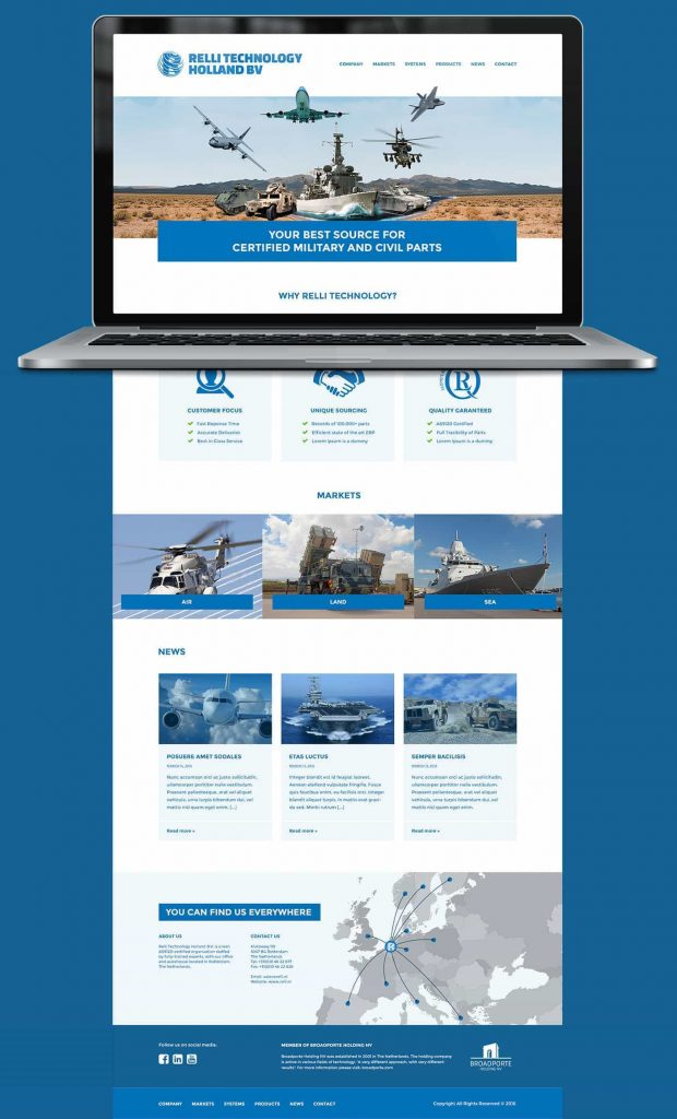 Relli Technology webdesign homepage
