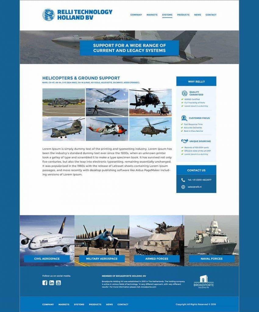 Relli Technology webdesign systemspage
