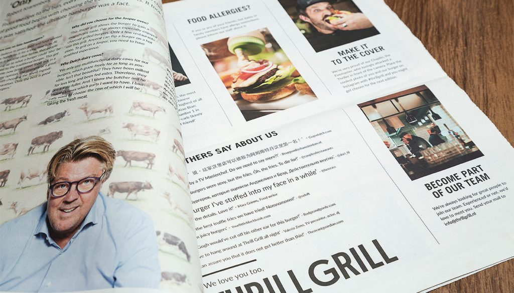 Thrill Grill menukaart 02