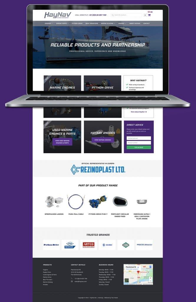 HayNav webdesign homepage